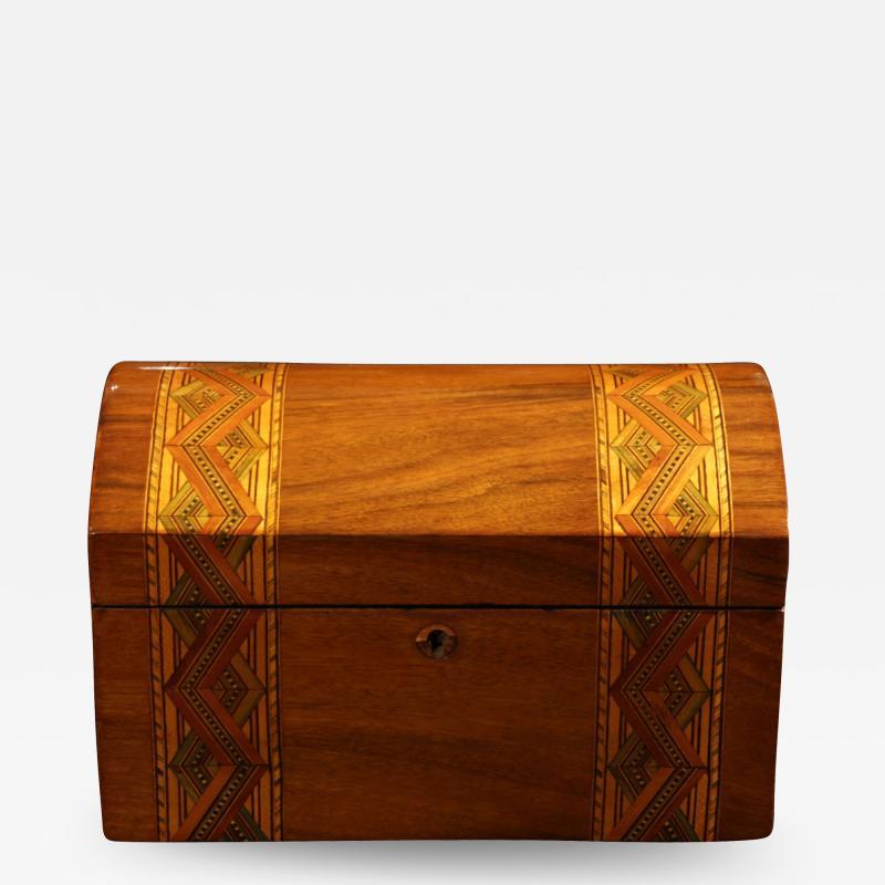Historicism Casket Box Walnut Maple and Plum South Germany circa 1880