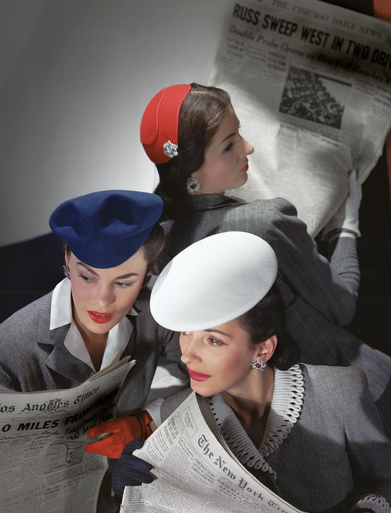 Horst p Horst Hats by Best Lord Taylor and Mme Pauline Gloves by Dawnelle 1943