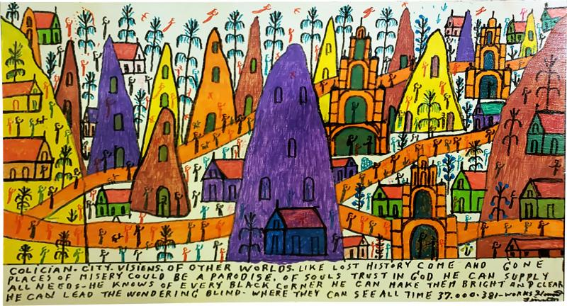 Howard Finster Colician City Visions of Other Worlds