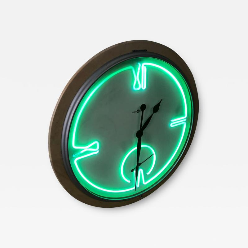 Howard Miller Postmodern Monumental Howard Miller Neon Wall Clock