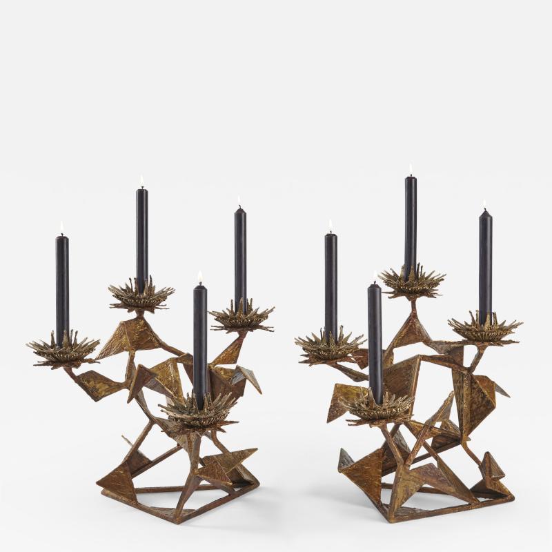 Hubert Le Gall Chardons Small Candleholders