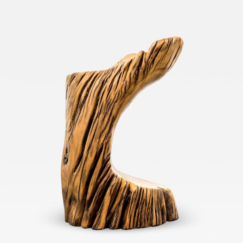 Hugo Franca Ita Stool in Reclaimed Pequi Wood by Hugo Fran a