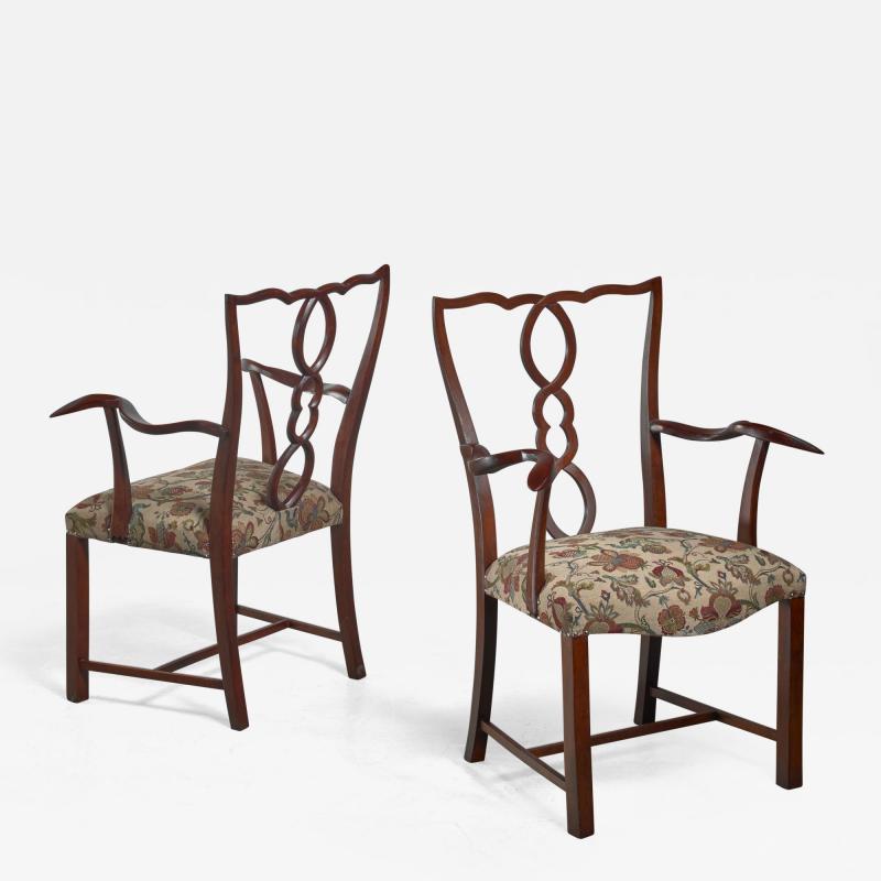 Hugo Gorge Pair of Hugo Gorge armchairs Austria 1920s