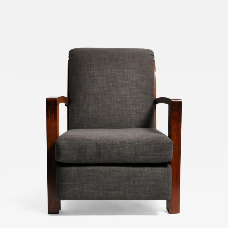 Hungarian Art Deco Walnut Chair