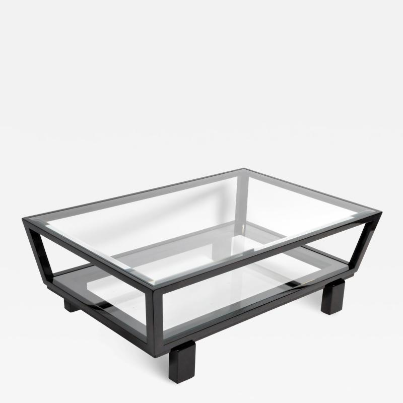 Hungarian Solid Beechwood and Glass Coffee Table