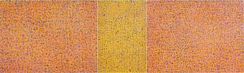 Hyunae Kang Am Modern Abstract Mixed Media Canvas Painting Pray 5 Trilogy Hyunae Kang