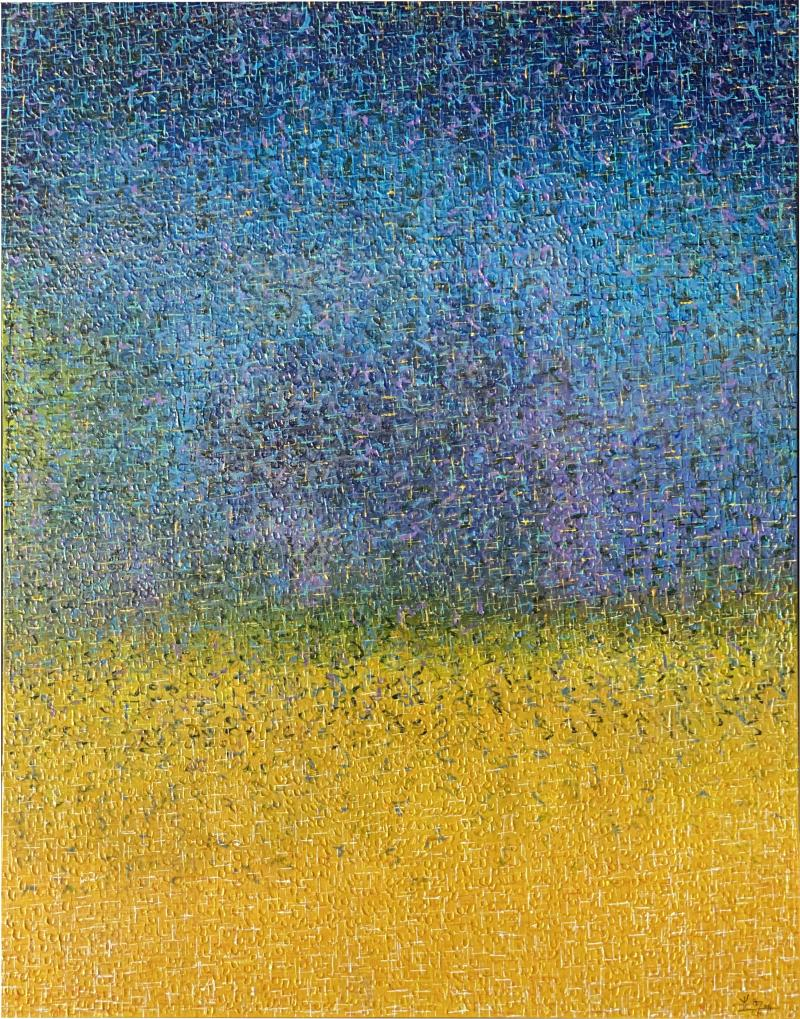Hyunae Kang Modern Abstract Mixed Media on Canvas Painting Earth Sky Hyunae Kang