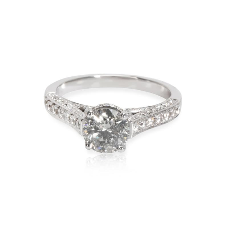 IGI Certified Diamond Engagement Ring in 18K White Gold 1 59 CTW