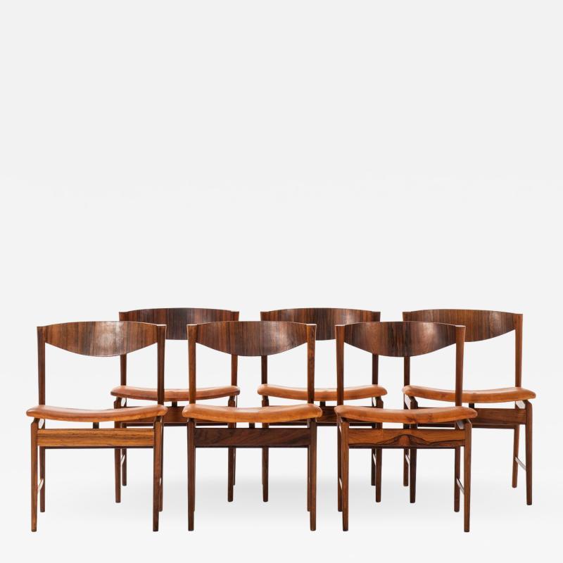 Ib Kofod Larsen Dining Chairs Produced by Seffle M belfabrik