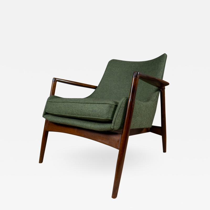 Ib Kofod Larsen Ib Kofod Larsen 1960s Sculpted Lounge Chairin Walnut for Selig