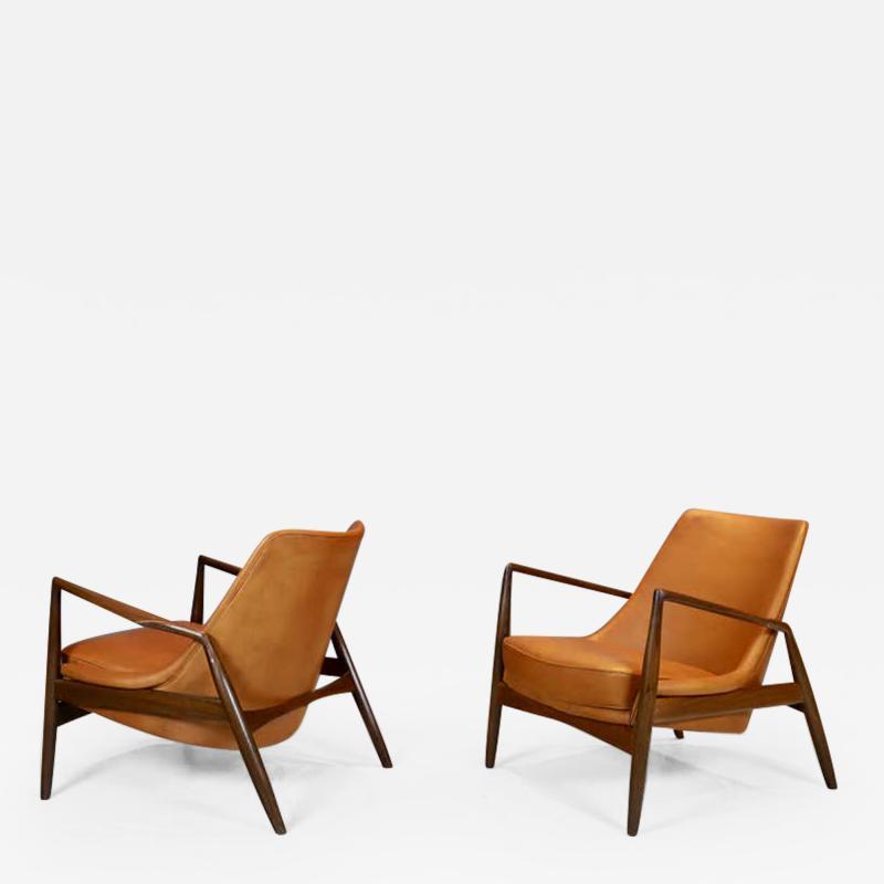 Ib Kofod Larsen Ib Kofod Larsen Seal Chairs in Afromosia Wood 1956