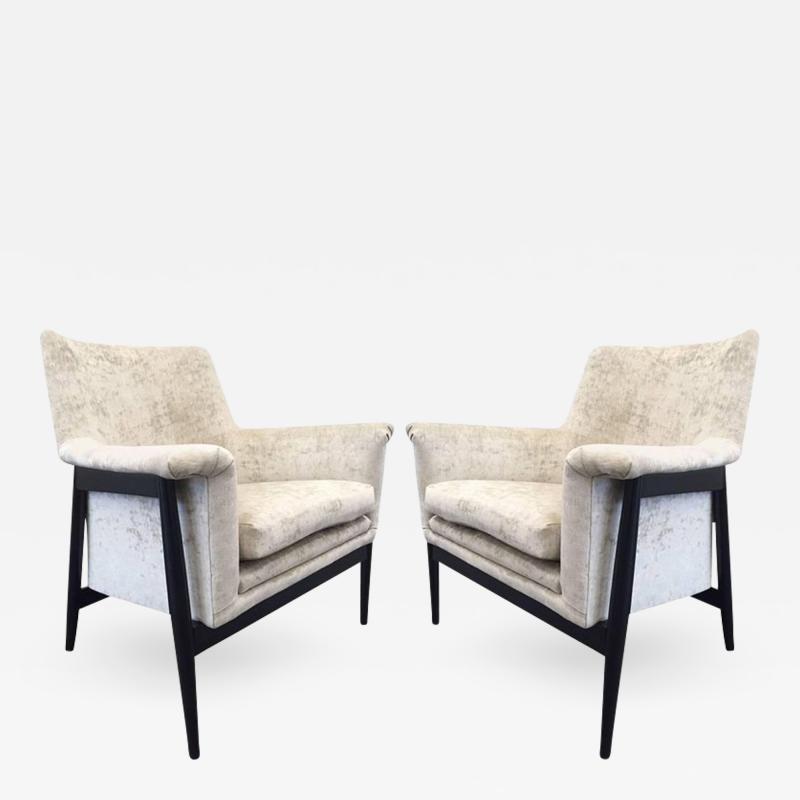 Ib Kofod Larsen Pair of Danish Modern Lounge Chairs Ib Kofod Larsen