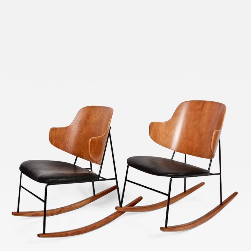 Ib Kofod Larsen Single Ib Kofod Larsen for Selig Penguin Rocking Chair 1950s