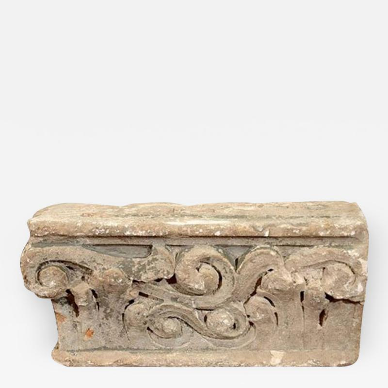 Iberian Cast Stone Architectural Fragment 19th Century