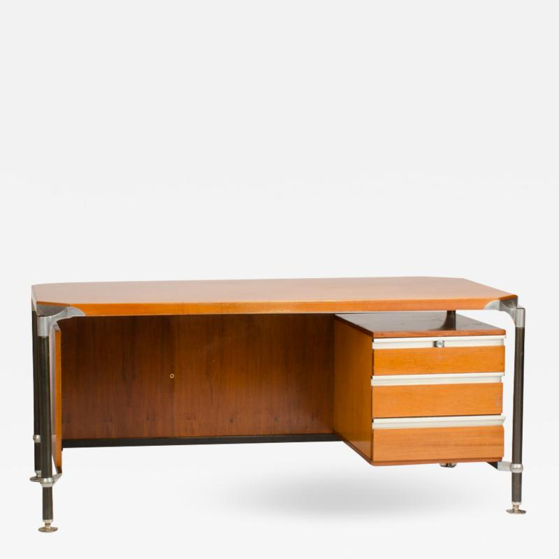 Ico Parisi An Italian Ico Parisi veenered walnut writing desk circa 1960