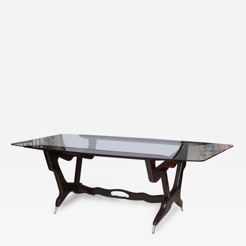 Ico Parisi Italian Modern Glass Top Desk