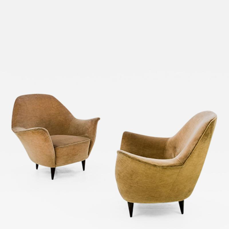 Ico Parisi Rare 1950s Pair of Ico Parisi Armchairs