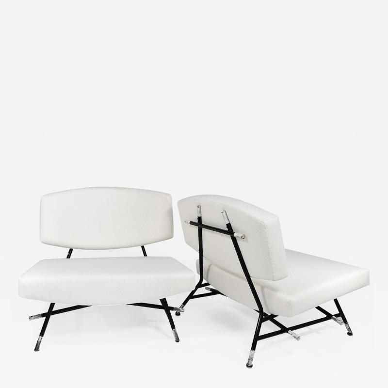 Ico Parisi Rare pair of chairs Model 865
