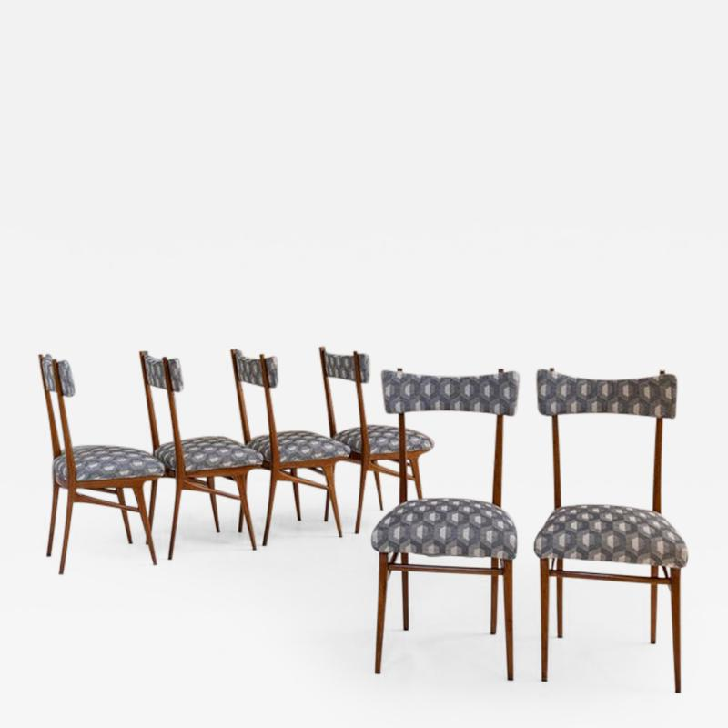Ico Parisi Set of Six Chairs Attributed to Ico Parisi