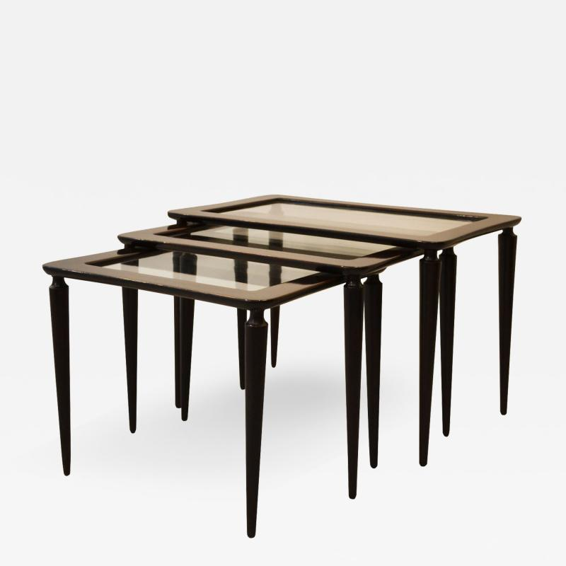 Ico Parisi Stacking tables model 401 by Ico Parisi