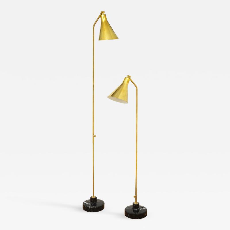 Ignazio Gardella Pair of brass floor lamps by Ignazio Gardella for Azucena