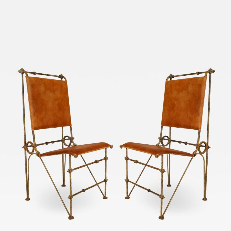Ilana Goor Set of 12 American Post War Leather Chairs