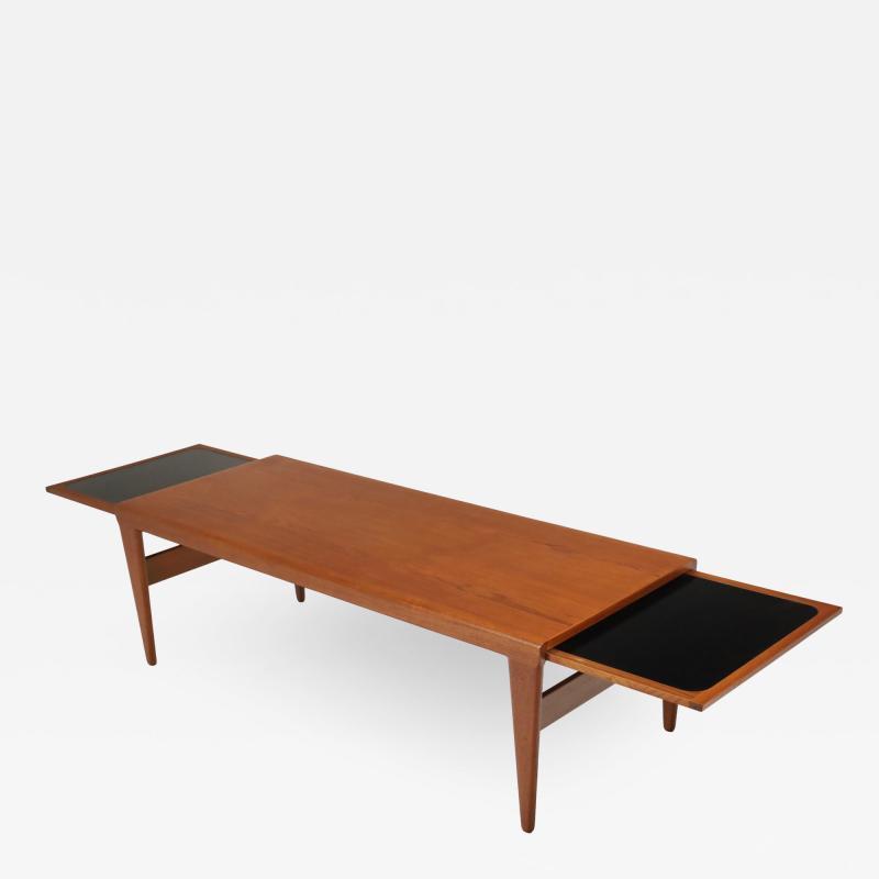 Illum Wikkelso Versatile Scandinavian Modern Teak Coffee Table Deisnged by Illum Wikkelso