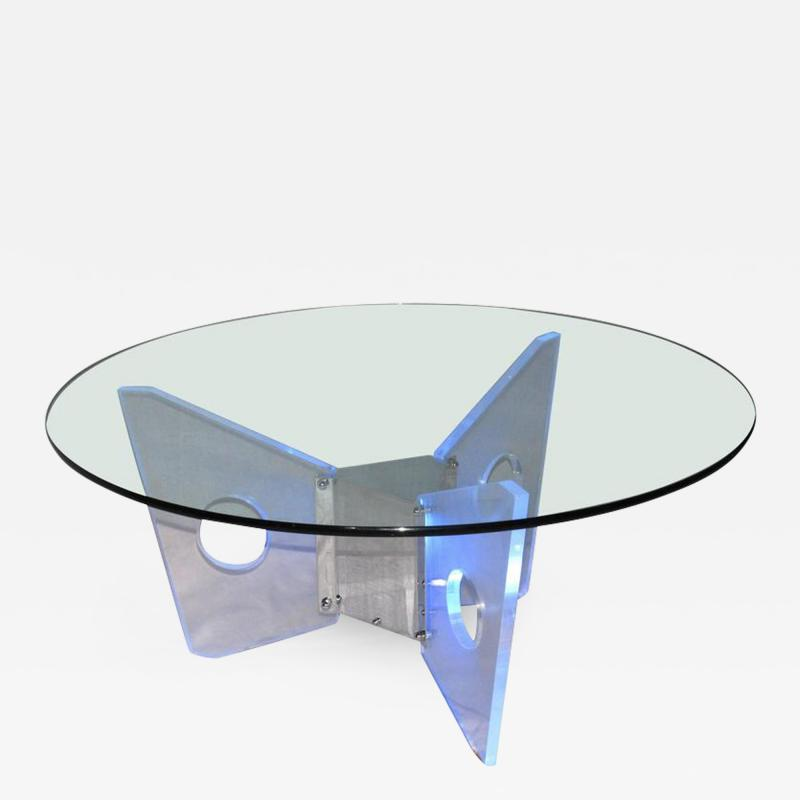 Illuminated Lucite Coffee Table circa 1970
