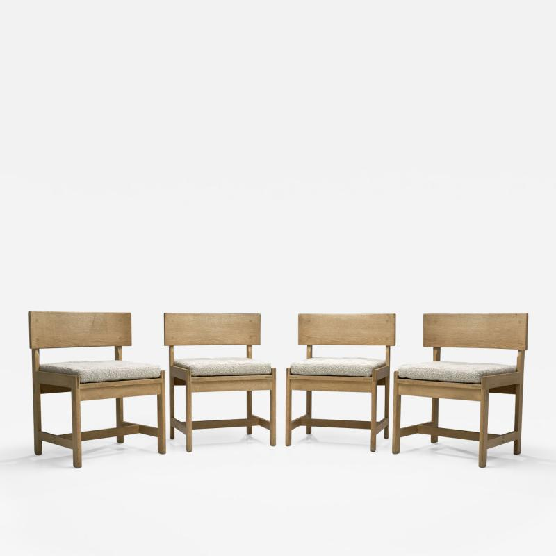 Ilse Rix Set of Four Oak Chairs by Ilse Rix for Uldum M belfabrik Denmark 1961