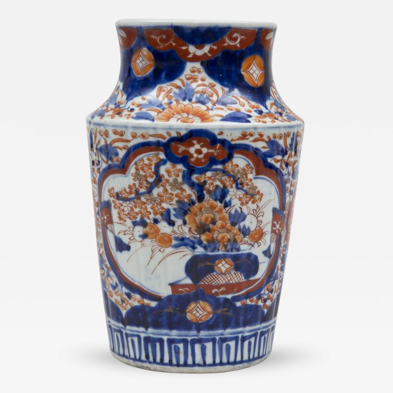 Imari Ribbed Open Vase Circa 1860