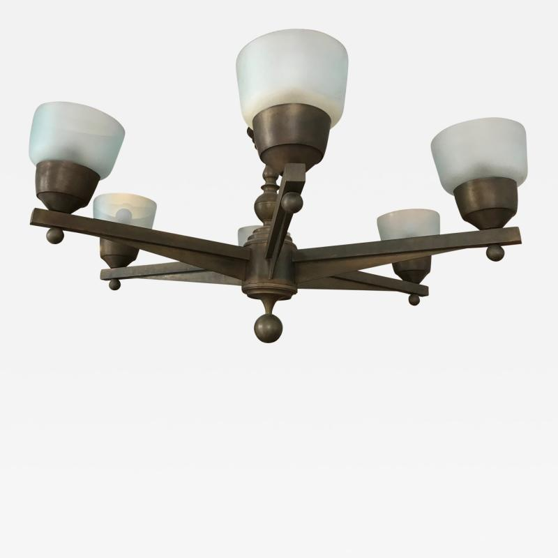 Important and Large 1940s Ceiling Light