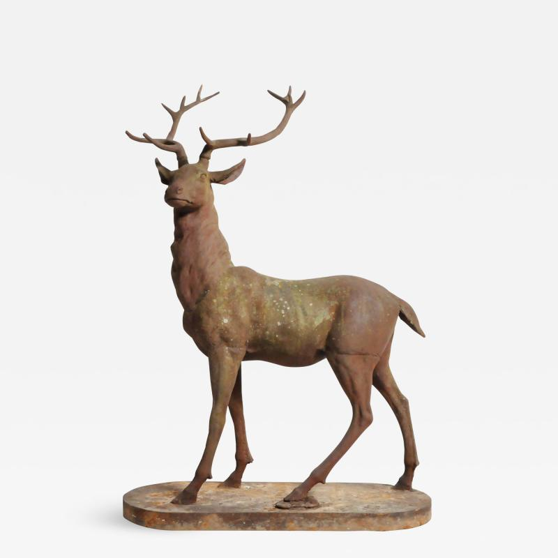 Impressive French Red Deer Sculpture