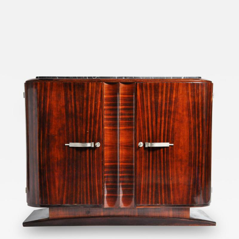 Impressive Mid Century Modern French Sideboard with Mable Top