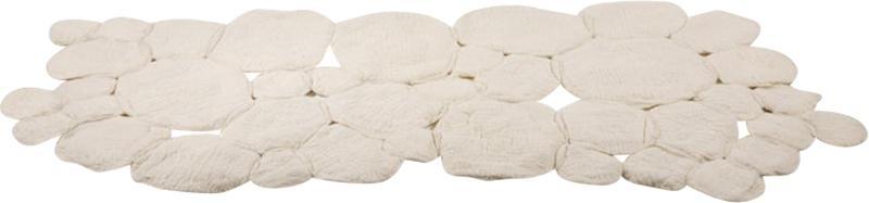 In s Schertel Contemporary Nevoeiro Felted Wool Blanket or Rug by In s Schertel Brazil 2019