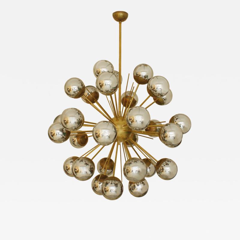 In the Style of Mid Century Modern Sputnik Italian Suspension Lamp