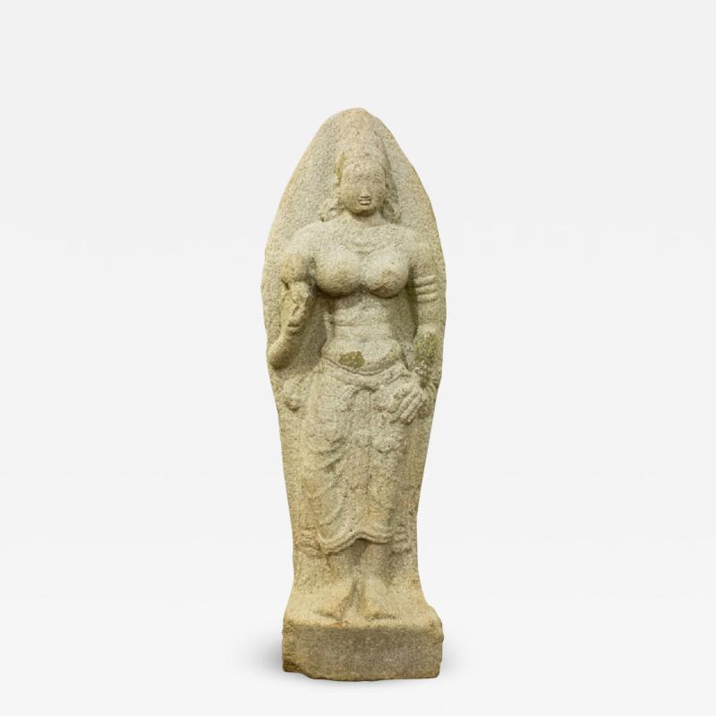 Indian Grey Granite Figure of Bhudevi