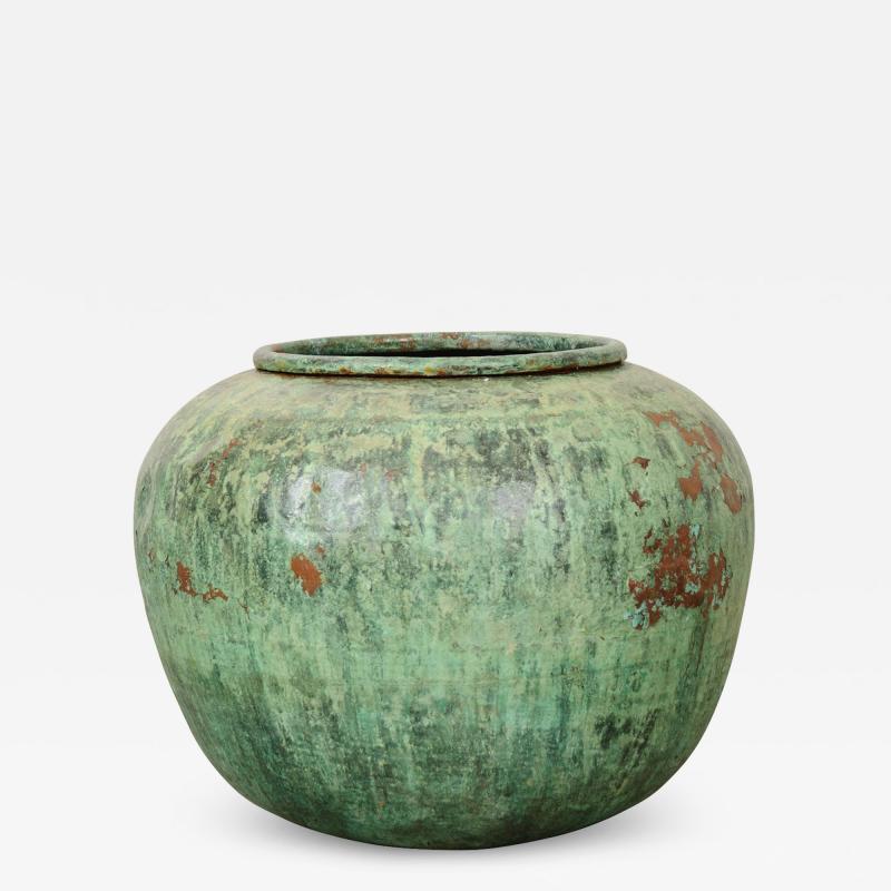 Indian Vintage Painted Metal Pot