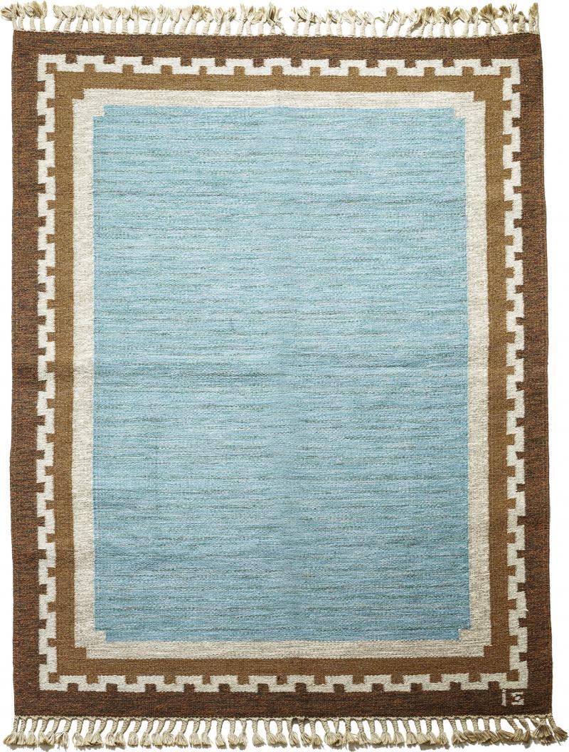Ingegerd Silow Modern Classicism Style Flat Woven Carpet by Ingegerd Sirlow
