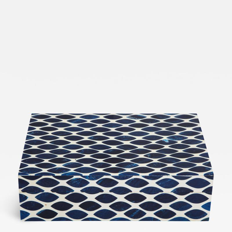 Ink Blue Cream Resin Fishnet Box