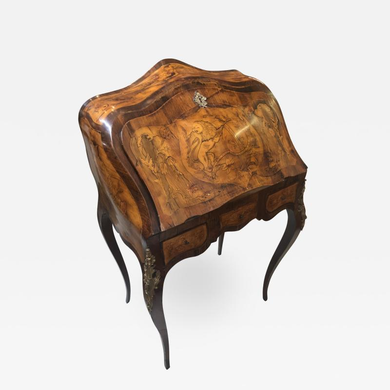 Inlay Marquetry Bombay Desk Secretary