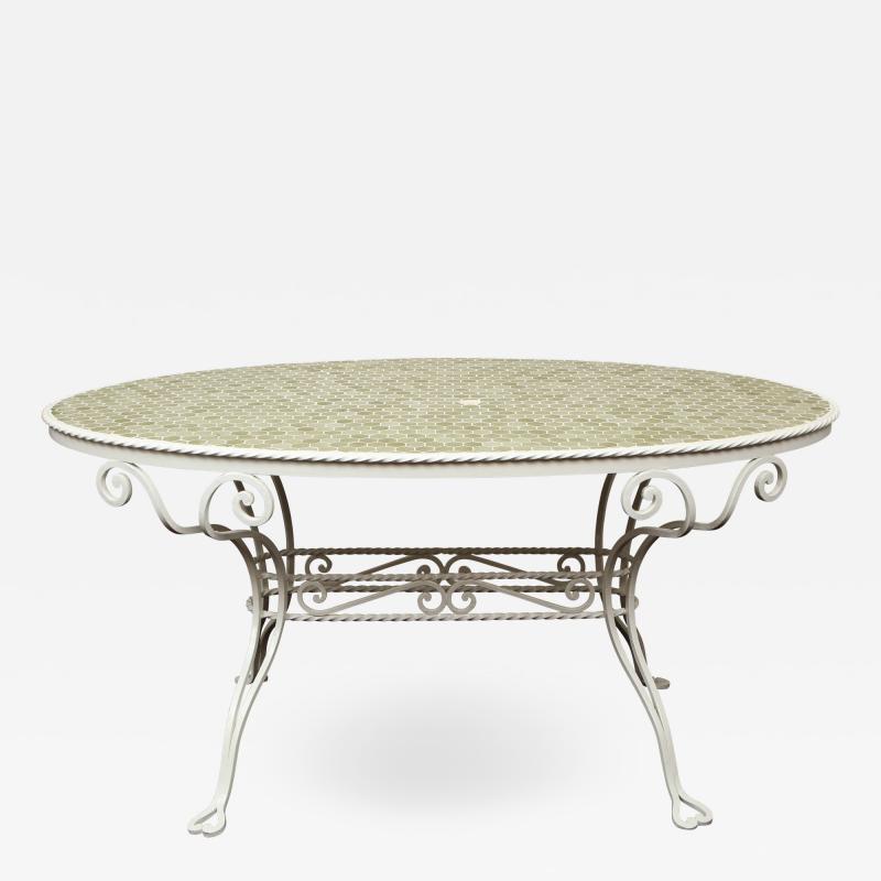 Iron Tile Top Garden Table