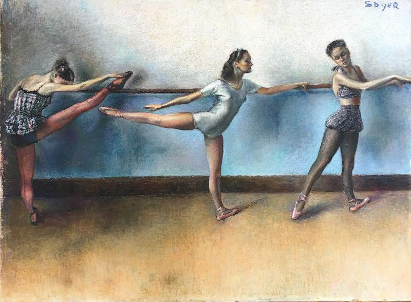 Isaac Soyer Three Ballerinas