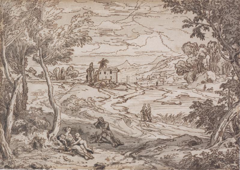 Isaac de Moucheron Rest on the Flight to Egypt Signed