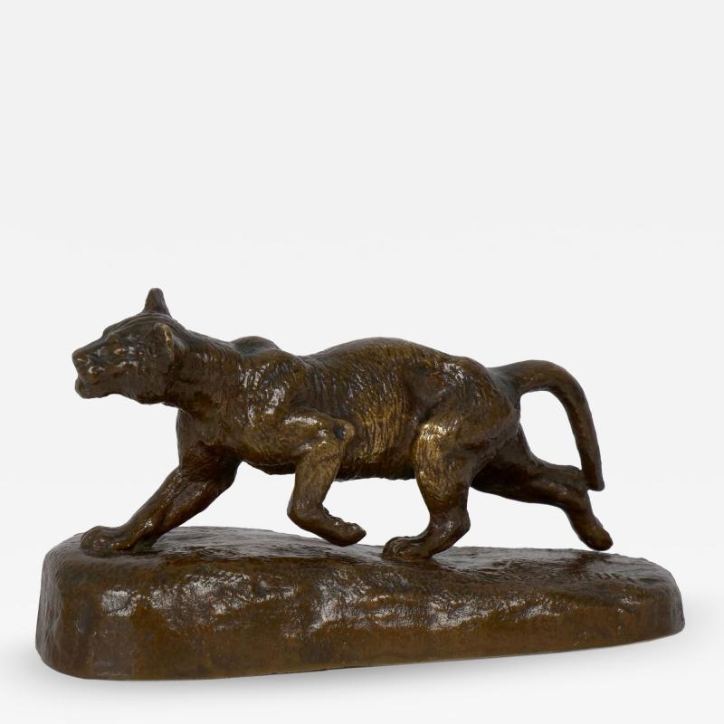 Isidore Bonheur Lion Cub French Antique Bronze Sculpture by Isidore Bonheur and Peyrol