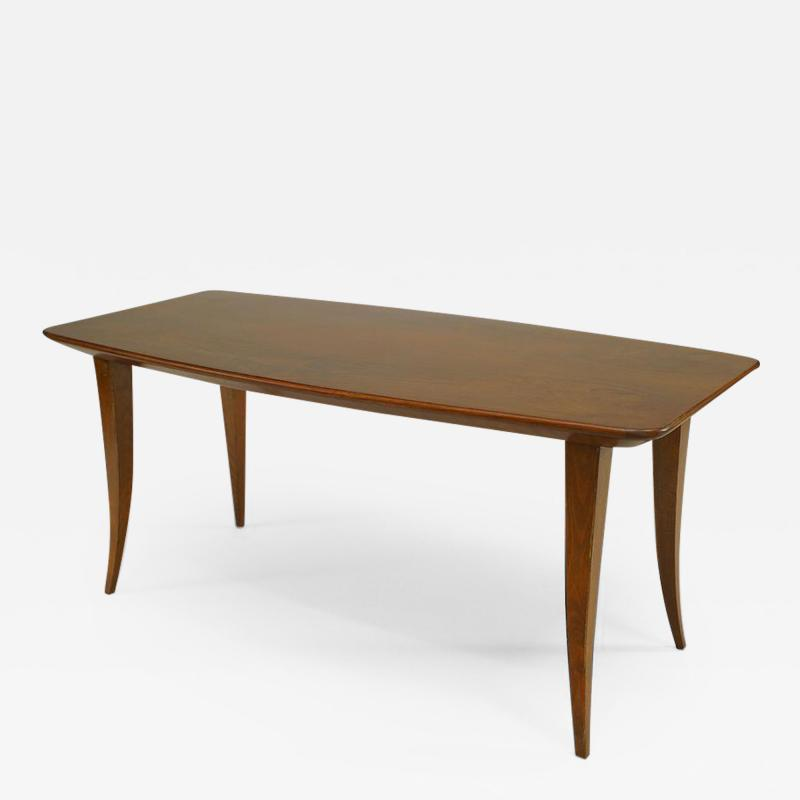 Italian 1930s Rationalism School Walnut Rectangular Coffee Table