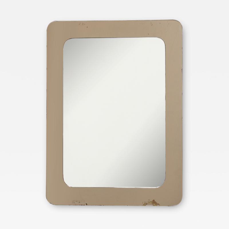 Italian 1970s Rose Gold Mirror