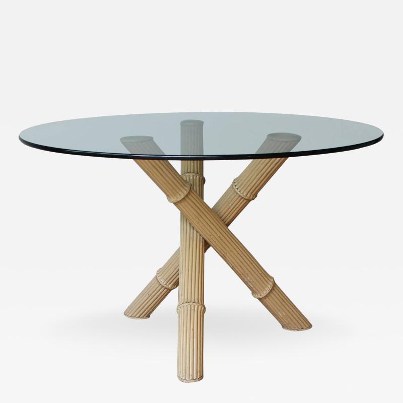 Italian Bamboo Tripod Dining Table