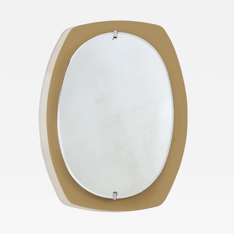 Italian Beveled Smoked Glass Wall Mirror by Veca