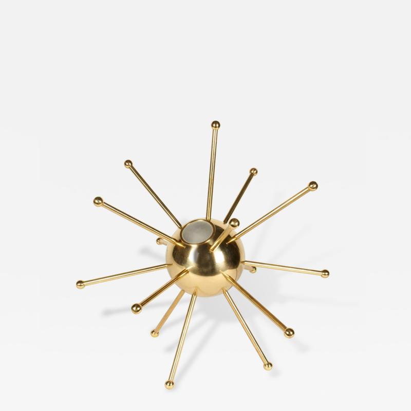 Italian Brass Sputnik Table Lamp