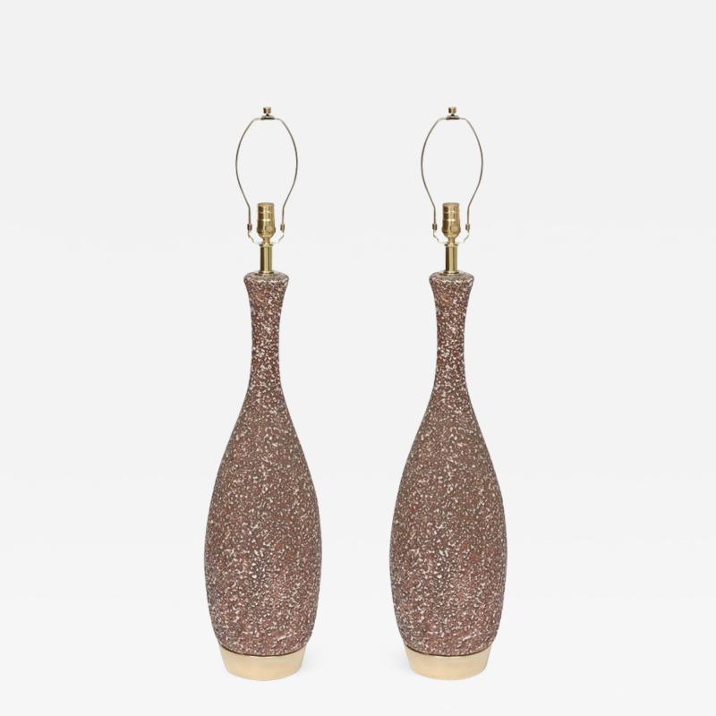 Italian Cocoa Brown Lava Glazed Lamps